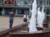 Перед Вінницькою міськрадою запрацювали фонтани