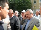 Зранку біля стін Вінницької ОДА проходив мітинг