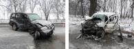 """Водій джипу """"Паджеро"""",  протаранивши дві автівки, відбувся легким переляком..."""