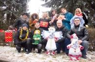 """У парку Горького ялинку прикрасили """"чарівними іграшками"""""""
