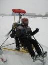 У Вінниці по Бугу катають на саморобних аеросанчатах