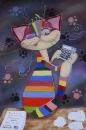 На всесвітній день котів вінницька майстриня присвятила їм виставку