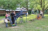 На Вишенці з'явилось нове дитяче ігрове містечко