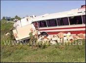 На Вінниччині в ДТП постраждало четверо пасажирів рейсового автобуса