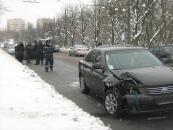 """У Вінниці на Київському мосту """"Кіа"""" перевернула """"Таврію"""""""