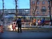 У Вінниці по вул. 50-річчя Перемоги з рейок зійшов трамвай