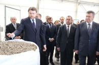 Президент на Вінниччині. Віктор Янукович відвідав завод з виробництва пелетів ТОВ «Він-пелета»