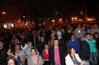 Як у Вінниці, вночі, малювали малюнки на будівлі колишньої міської думи. Фоторепортаж