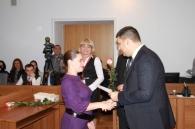 У Вінниці започаткували нову традицію – вітати вінничанок, які стали мамами у День міста