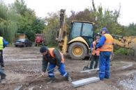 Триває розширення проїжджої частини на перехресті вулиць Козицького - Свердлова