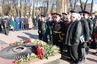 Покладання квітів з нагоди Дня визволення України від фашистських загарбників