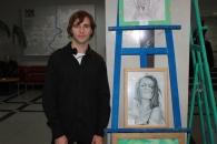 У холі Вінницької міської ради відкрилась виставка творчих робіт Юрія Нужди