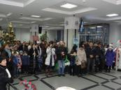 Вчора у холі Вінницької міської ради лунали колядки
