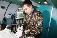 Військові медики відпрацювали алгоритм дій аеромедичної евакуації