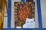 Близько півсотні креативних смугастих котів з'явилися у Вінницькій мерії