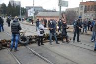 Вінниця 19 лютого - масові акції протесту паралізували центр міста