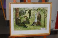 У Вінницькій міській раді відкрилася виставка картин, присвячена Дню Перемоги