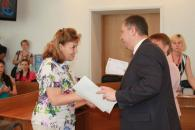 9-річний вінничанин Роман Мазурець отримав баян від Віктора Бронюка