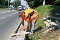 У Вінниці ремонтують підпірну стінку по Хмельницькому шосе