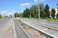На Барському шосе уже зімкнули трамвайне кільце: нову колію приєднали до існуючої