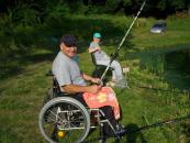 У змаганні з ловлі риби серед людей з обмеженими фізичними можливостями переміг Сергій Максімов