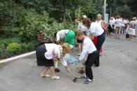 До Дня Незалежності у Вінниці садили калину