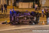 Один автомобіль перекинувся, ще два розбито у ДТП на Київській