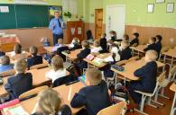 Працівники ДАІ проводять вінницьким школярам уроки безпечної поведінки на дорозі