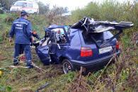 Cтрашне ДТП на об'їзній дорозі Вінниці: «Volkswagen Golf» зіткнувся з вантажівкою «Mercedes»
