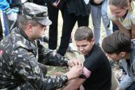 Учні Вінницького технічного ліцею взяли участь в проекті «Один день в армії»