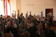 У міському палаці мистецтв для школярів проводять майстер-класи з виготовлення патріотичної символіки