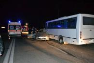 """Поблизу Вінниці """"Toyota"""" влетіла в рейсовий автобус: три людини загинуло, двоє госпіталізовано"""