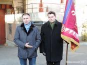 У вінницького 9 батальйону з'явився унікальний прапор із золотими нитками