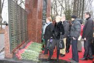Покладання квітів до пам'ятника з нагоди 35-річчя введення військ в Афганістан