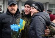 На новорічні свята на Вінниччину зі Сходу України повернулися бійці дев'ятого батальйону територіальної оборони