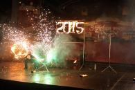 Новорічні свята у місті завершилися спортивними змаганнями та вогняним шоу