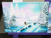 У холі міської ради вінничани можуть побачити чудові зимові пейзажі