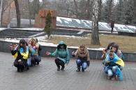 Молодь Вінниці відзначила річницю Небесної Сотні патріотичними флеш-мобами