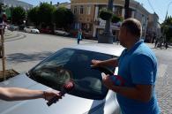 У центрі міста за неправильну парковку ДАІшники оштрафували більше півсотні водіїв