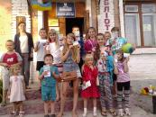 У рамках «Мистецьких вихідних» діти створили спільний малюнок «Вільна Україна»
