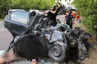 На об'їзній Вінниці кіт, що раптово вибіг на дорогу, спричинив жахливу аварію та загибель двох людей