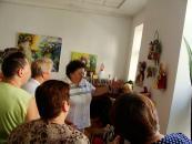 Наталя Покуца, яка навчилася робити ляльки-мотанки у Терцентрі, вже демонструє свої роботи на персональній виставці