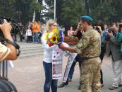 Сьогодні Вінниця зустріла своїх кіборгів, які повернулись з зони АТО