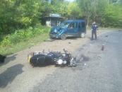 На Вінниччині мотоцикліст потрапив під колеса автомобіля