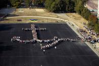 Більше двох тисяч вінничан долучилося до створення велетенського герба Вінниці