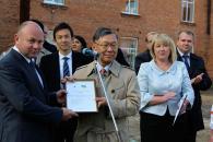 Нардеп Олексій Порошенко та Посол Японії Сумі Шіґекі відкрили альтернативну котельню в Оленівській школі на Вінниччині