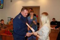 Сьогодні у міській раді вінницьких воїнів та волонтерів привітали з Днем захисника України