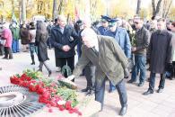 На річницю визволення України від фашистських загарбників в мерії вітали ветеранів, а на Європейський площі вшановували загиблих
