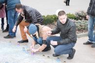 Фоторепортаж з вшанування вінничанами пам'яті загиблих під час терористичних актів у Франції