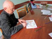 У Терцентрі люди похилого віку займалися арт-терапією